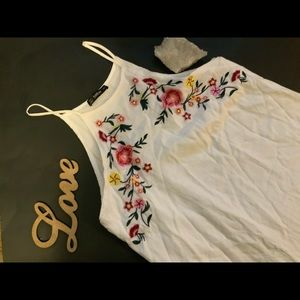 Shein Embroidered Floral Dress
